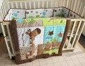 3 unidades lovely baby bedding set jirafa bedding set para cuna sábanas cuna parachoques bebé ropa de cuna kit berco