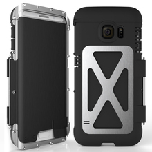 R Net Iron Mannen Flip Telefoon Case Shock Proof Fashion Staal Metal Armor Case voor Samsung S9 S8 Plus s6 S7 Rand Note 9 8 5 4 3 2