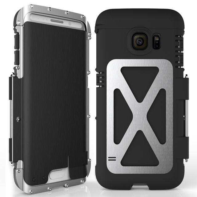 R Nur Eisen Männer Flip Telefon Fall Shock Proof Mode Stahl Metall Rüstung Fall für Samsung S9 S8 Plus s6 S7 Rand Hinweis 9 8 5 4 3 2