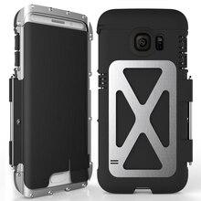 R just Iron Men étui de téléphone à rabat résistant aux chocs mode acier métal armure étui pour Samsung S9 S8 Plus S6 S7 Edge Note 9 8 5 4 3 2