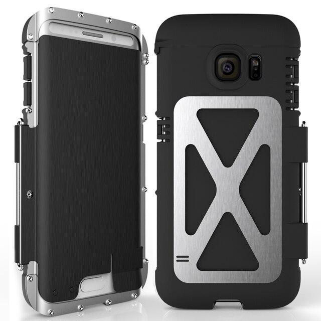 R just funda de teléfono con tapa para hombre, a prueba de golpes, armadura de Metal de acero a la moda para Samsung S9 S8 Plus S7 S6 Edge Note 9 8 5 4 3 2