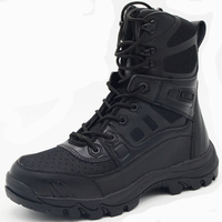 Winter Men Military Tactical Boots Genuine Leather Rubber Black Combat Army Ankle Boots Mens Flat Safety