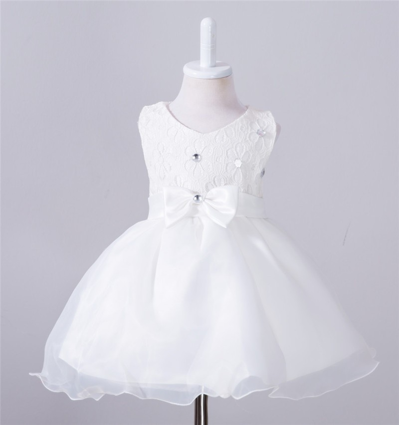 Baby Christening Bow Dress (10)