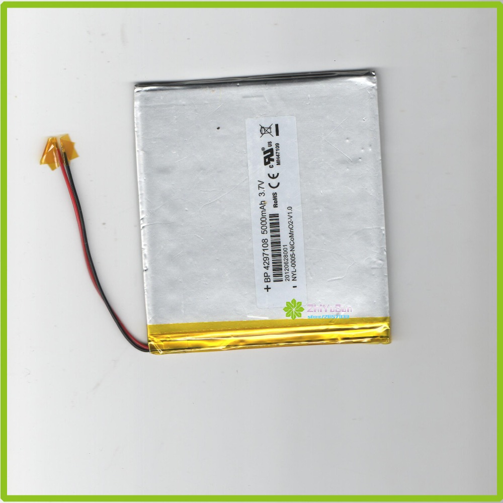 4297108 NEW <font><b>3.7V</b></font> 5000mAh Thickness4.2mm width97mm length108mm <font><b>tablet</b></font> PC <font><b>lithium</b></font> <font><b>polymer</b></font> Liter energy <font><b>battery</b></font> image