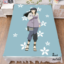 Japanese Anime Naruto Hinata Hyuga Bed sheet Throw Blanket Bedding Coverlet Cosplay Gifts Flat Sheet cd045
