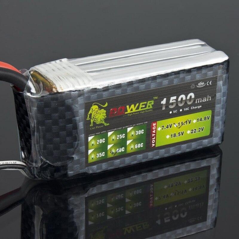 1pcs Lion Power 11.1V 1500MAH 40C max 45C AKKU LiPo RC Battery For Rc Helicopter