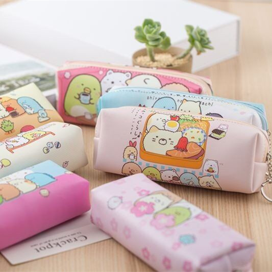 1PC Cute Sumikko Gurashi Pencil Bag For School Big Capacity Pencil Case Stationery Pouch Estuche School Office Supply