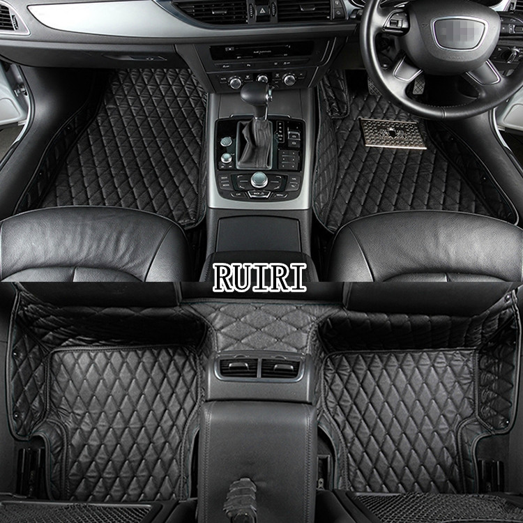 Good car mats! Custom car floor mats for Right Hand Drive Toyota Harrier 2017-2014 waterproof durable car carpets,Free shipping full cover right hand steering rhd waterproof carpets durable special car floor mats for chrysler 300c grand voyager most models