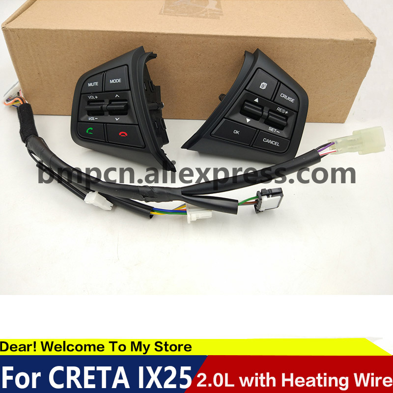 Cruise Control Should Not Be Used >> Us 19 0 Steering Wheel For Hyundai Ix25 Creta 2 0 1 6 Buttons Bluetooth Phone Cruise Control Remote Control Button Left Music Button In Steering