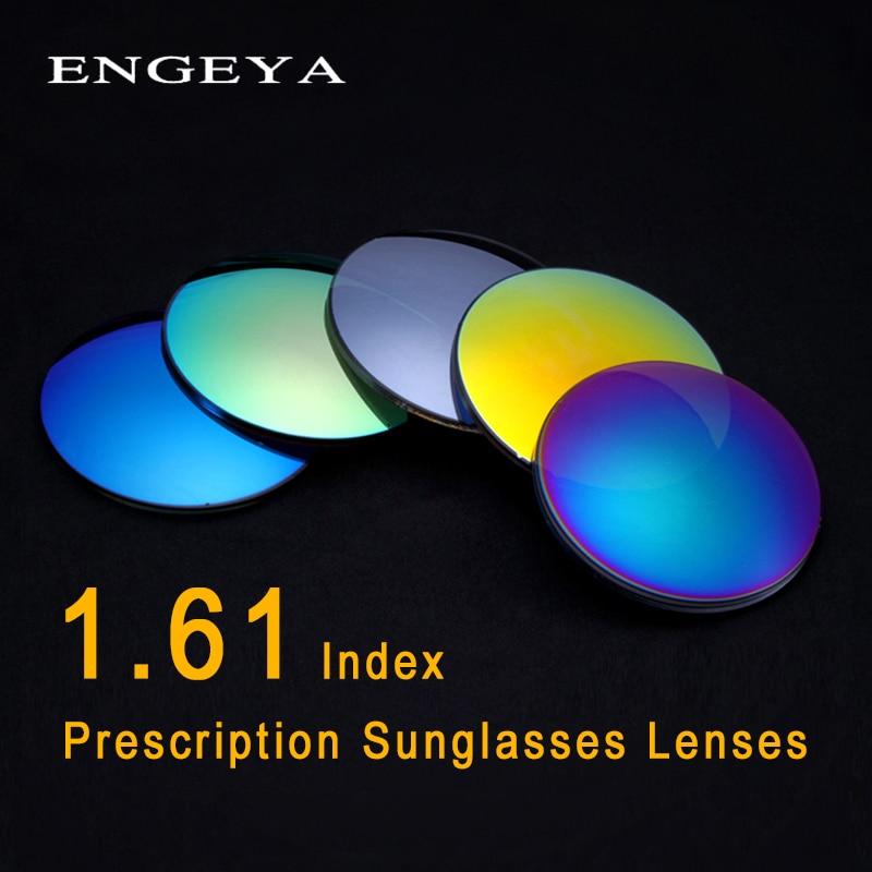 ENGEYA 1 61 Index Prescription Sunglasses Lenses Polarized Lenses for Women Men Optical Myopia Anti Scratch