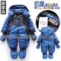 Nuevo Llegan Al Por Menor de moda del bebé del mameluco del algodón de invierno acolchado de una pieza del mono para niños a prueba de viento muy mameluco grueso