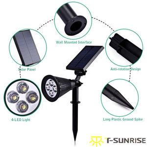 Image 4 - T SUNRISE 4 Pack Solar Powered Lampe IP65 Wasserdicht 4 LED Wand Licht für Garten Hof Dekoration Grüne Farbe