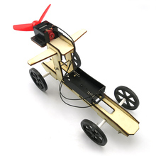 DIY Assembled Wooden Wind Car Puzzles Toys Science Model Toys For Kid Learning 4WD Smart Robot Car Tank Chassis RC Toy F17922
