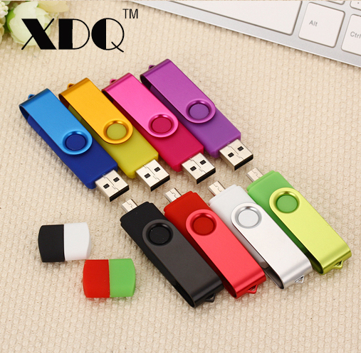 Rotate U disk Multicolor micro usb Smart Phone USB Flash Drive 8GB 32GB 64GB 128GB pen drive memory stick u disk pendriver kingston g3 8gb usb flash drive u disk white