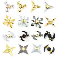 Shuriken Kunai Genji Ninja Darts Tri Spinner Fidget Toy Metal EDC Fidgets Hand Spinner Naruto Autism