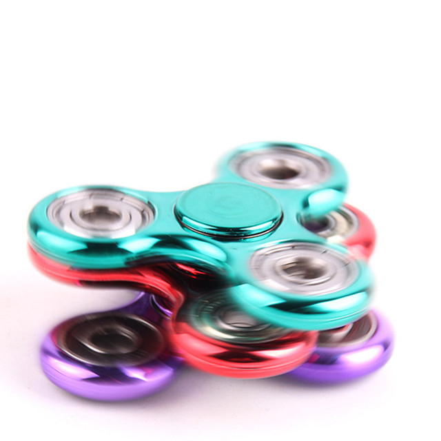Hand Spinner Copper Tri-Spinner Fidgets Toy EDC Sensory Fidget Spinner For Autism and ADHD Kids/Adult Funny Anti Stress Toys