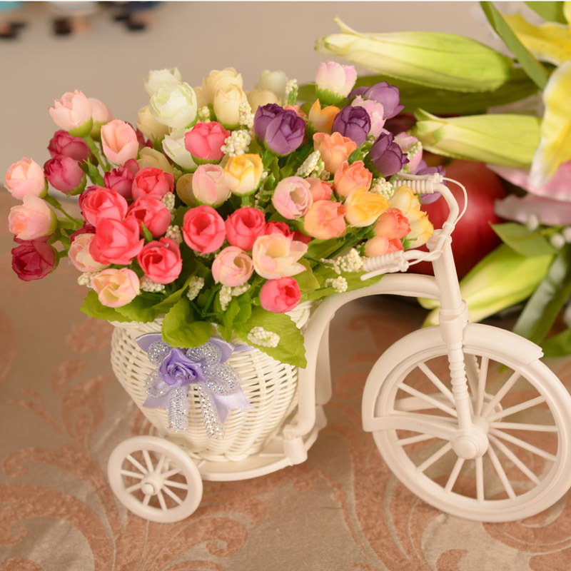 15 flower heads rose artificial flowers silk roses for Rose home decorations