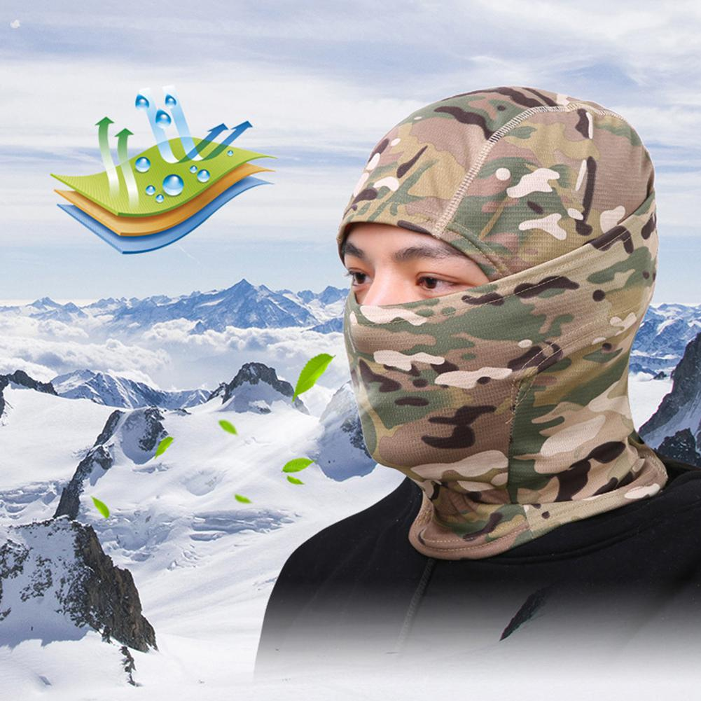 4 Colors Camouflage Balaclava Full Face Mask Wargame Cycling Hunting Army Bike Military Helmet Liner Tactical Airsoft Cap Hot in Cycling Face Mask from Sports Entertainment