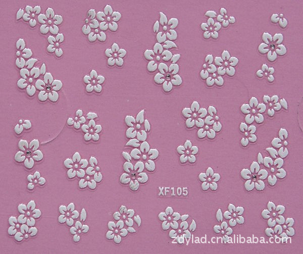 3D flower design Water Transfer Nails Art Sticker decals lady women manicure tools Nail Wraps Decals wholesale XF105 адаптер питания