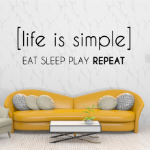 Colorful Life is Simple Wall Stickers Self Adhesive Art Wallpaper For Living Room Kids Removable Decor Decals