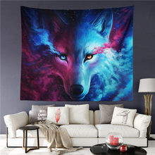 85ffdd8b48764 Drop Shipping Wolf Warrior Tapestry Native American Wall Hanging Animal  Sheets Indian Wolf Tapestry Home Decor