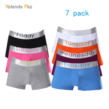 Mens Boxers Underwear Paz Clothing Man Breathable New-Design XL Real Yolanda 7-Pack Good-Fabric