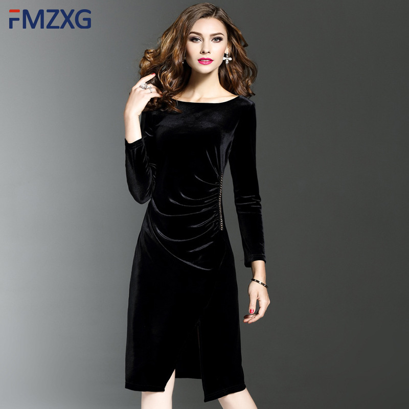 fc0cf16f3ff Detail Feedback Questions about Elegant Velvet Bodycon Dress for ...