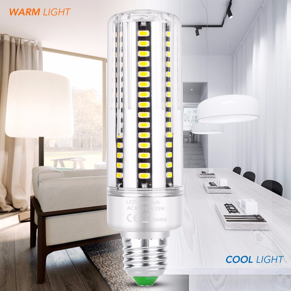 E14 LED Bulb E27 LED Corn Lamp 220V Light Candle Bulb 110V Ampoule LED High Power Lamp 5W 7W 9W 12W 15W 20W Home Light 5736 SMD in LED Bulbs Tubes from Lights Lighting
