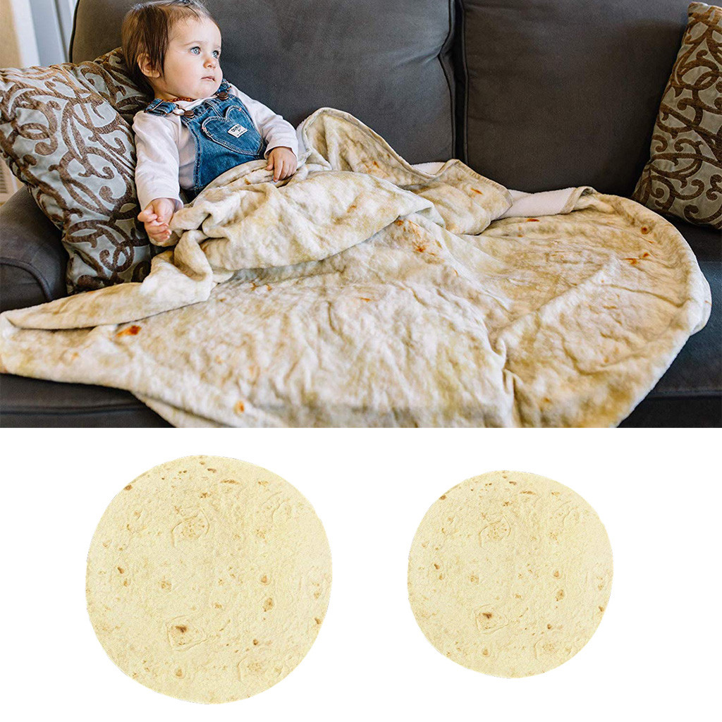 Ishowtienda Comfort Carpet Creations Realistic Food Novelty Blanket Perfectly Round Tortilla Throw On Bed Sofa Couch Smart Electronics Smart Home