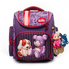 Delune New Style Large Capacity Girls Cartoon School Backpack Orthopedic Ergonomic Design Children Bear Pattern School grade 1-3