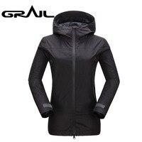 GRAIL Waterproof Jacket Women Windstopper Windbreaker Black Rain Coat Functional Technical Jacket 0102A