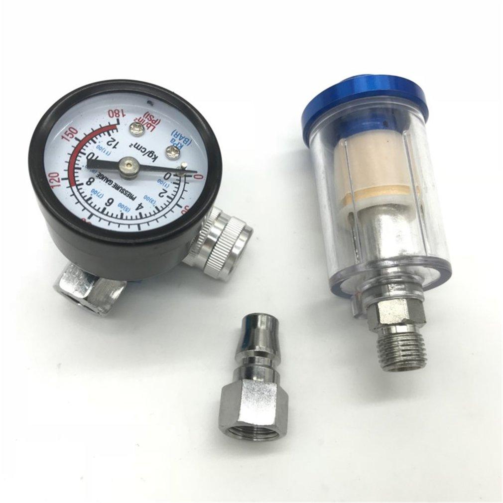 Car Spray Gun Pressure Regulator + Quick Connector + Filter 3pcs/set