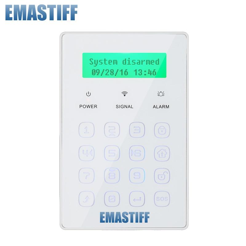 Бесплатная доставка! новый Беспроводной Меню Ультра-тонкий сенсорный Пароль Клавиатура 433 мГц просто для GSM PSTN наши тревоги Системы