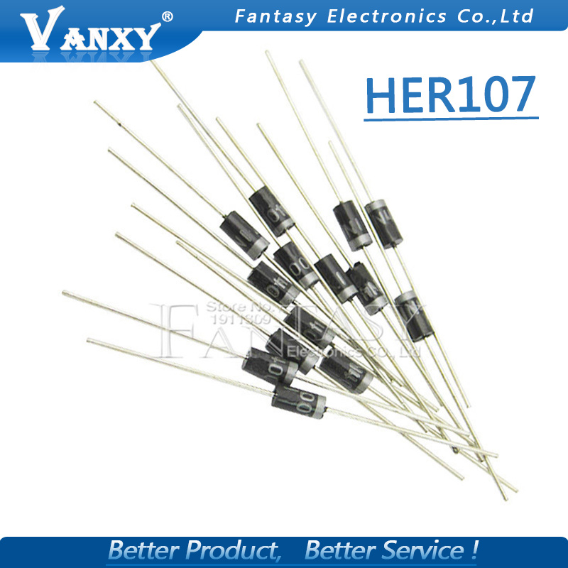 100pcs Rectifier Diode 1A 800V DO-41 HER107