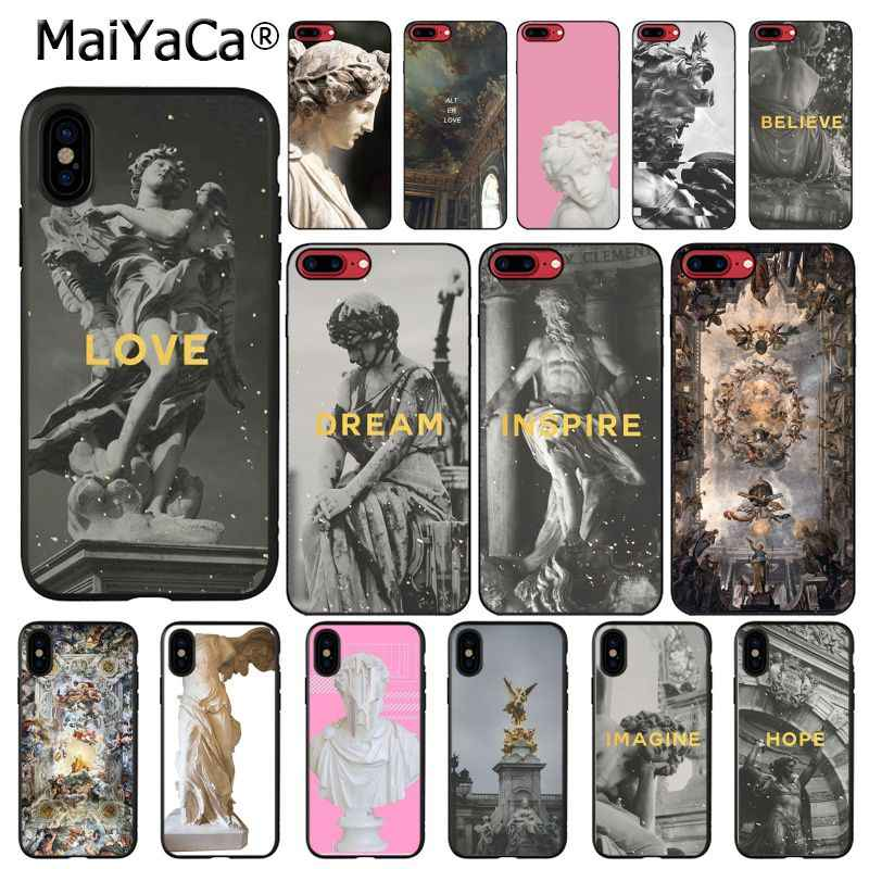 MaiYaCa Plaster statue Sculpture Art Quotes Phone Case For iphone 11 Pro 11Pro MAX 8 7 6 6S Plus 5 5S SE XR X XS MAX 10