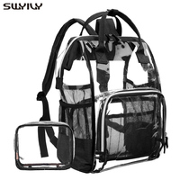 SWYIVY Backbag Woman PVC Transparent Backpack With Small Bags 2019 New Lady Shoulder School Bag Backpack For Woman Big Capacity