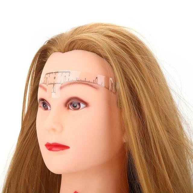 10pcs 18cm Reusable Eyebrow Ruler Eye Brow Measure Tool Eyebrow Guide Ruler Microblading Calliper Stencil Makeup 4
