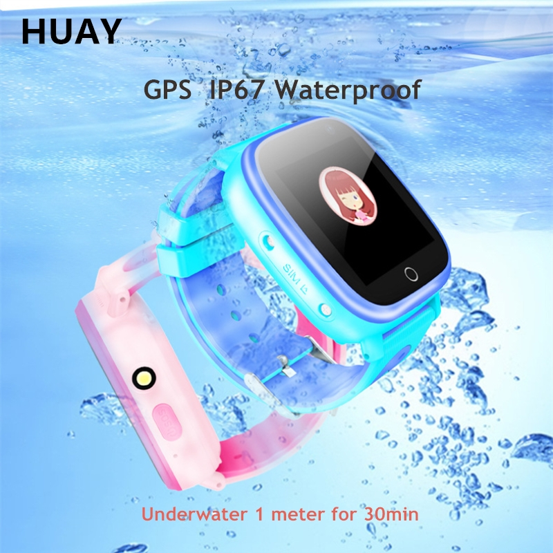 Kids watch GPS tracker watch waterproof IP67 HD 1.44 screen flashlight camera GPS LBS Location Children smart clock Q11 1pcs