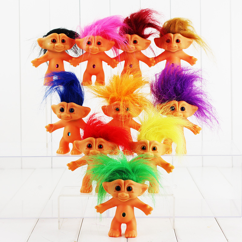10 Colors 10cm Trolls Doll With Long Hair Poppy Branch Biggie Figure
