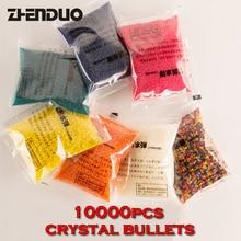 ZUANLONG Marque Cristal balles 10000 Pcs / pack Pistolets À Eau Pistolet Jouets Croissant Cristal Billes D'eau Mini Ronde Perles De L'eau Du Sol