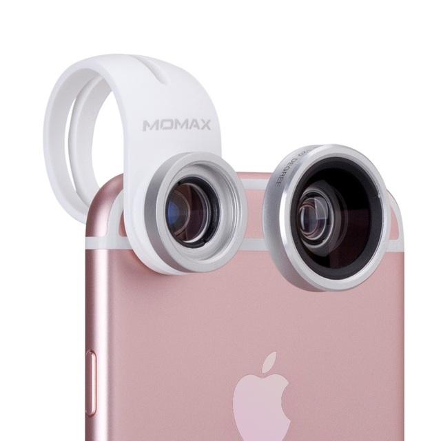 MOMAX X 4-en-1 de la Lente 120 Grados de Ángulo Ancho + Macro 15X lente 180 Grados de Ojo de Pez + CPL Filtro para el Teléfono Tablet