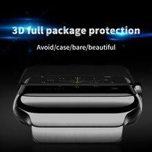 4D/3D 曲面強化ガラスフィルム Apple の腕時計フル接着剤防水アップルのシリーズ 1 /2/3 フィルム