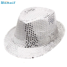 Best Deal New Adult Fashion Women Men Sequined  Hats Dance Stage Show Performances Caps Gift 1PC