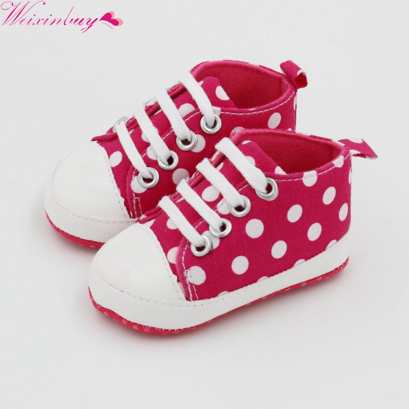 Baby Shoes New Canvas Classic Sports Sneakers Infant Toddler Anti-slip Soft Sole Crib Shoes Newborn Boys Girls First Walkers