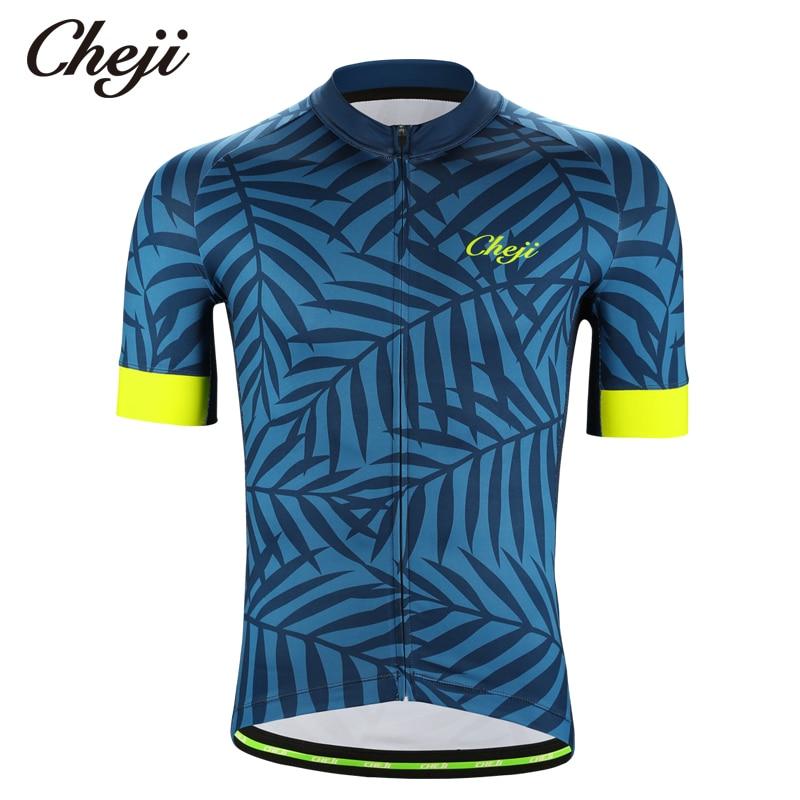 6f01779b620 CHEJI New Design Men s Short Sleeves Bike Shirt Standing Collar Breathable  Mesh Fabric Cycling Jersey Wear