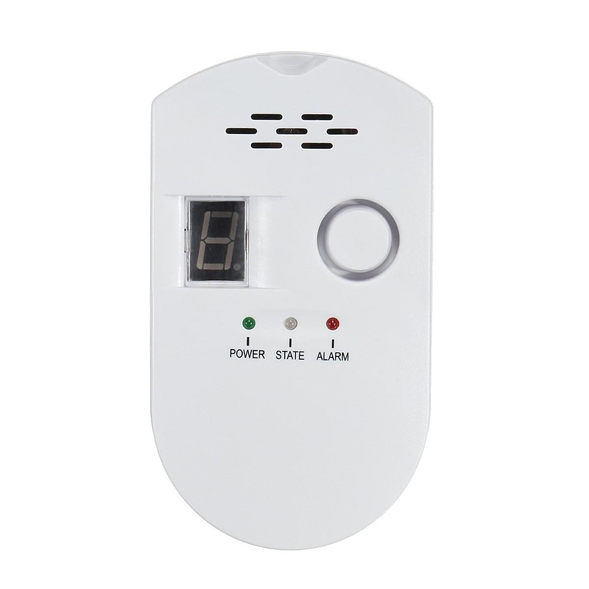 NEW Safurance LCD LPG LNG Coal Natural Gas Leak Security Alarm Sensor Warning Detector UK Plug High Sensitive недорого