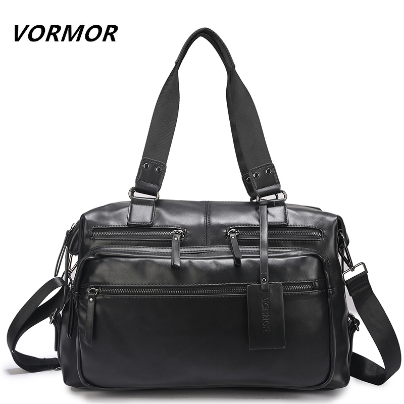 VORMOR Handbag Men Messenger Bags PU Leather Man Bags Fashion Male Men Travel Bag Man Casual Totes Bag