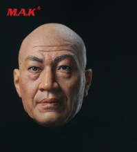 New 1:6 Scale S-02 Shi Zhaoqi Head Sculpt Chinese Bald Actor Head Carved Model fit 12 Action Figure for Collection Toys lacywear s 237 shi