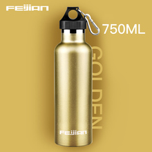 Feijian 750ml Sports vacuum thermal bottle Stainless Steel Insulated Outdoor Drinking Water Bottle flask travel kettle shaker цена и фото