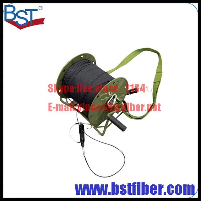Carrete de Cable Blindado cable de Fibra Óptica Cable de Fibra Óptica de Campo Táctico Fibra con Verdadera de Transmisión De TELEVISIÓN por Cable de Fibra Óptica Del Ejército